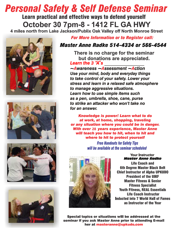 Anti-Bullying Seminar. Call 850-514-4334 for more information.